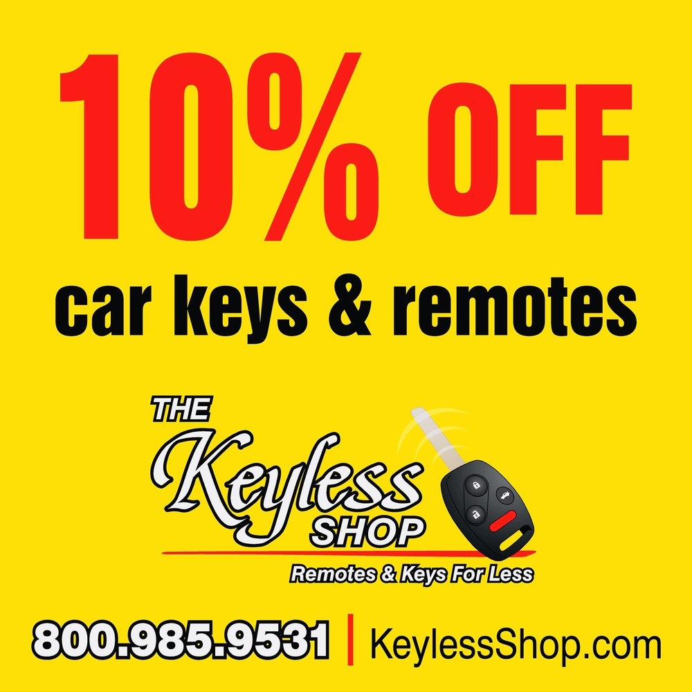 The Keyless Shop 10% off coupon.  Make sure to show this to your local Keyless Shop technician and receive 10% off. Does not apply with any other discounts.