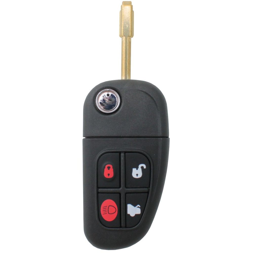 Jaguar flip key with remote now available at most Keyless Shop at Sears locations.  Call 800-985-9531 for more info.