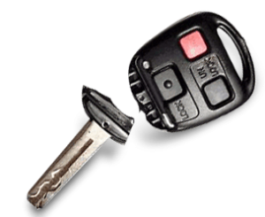 Broken Lexus Car Key. Easily repaired at any Keyless Shop location. Not close to any of our locations? No problem give us a call we can still help cut you a new key shell by the vin. Call 800-985-9531.