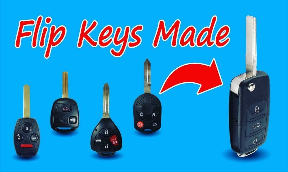 Flip Keys Made for all cars only at The Keyless Shop at Sears. For locations visit KeylessShop.com/locations