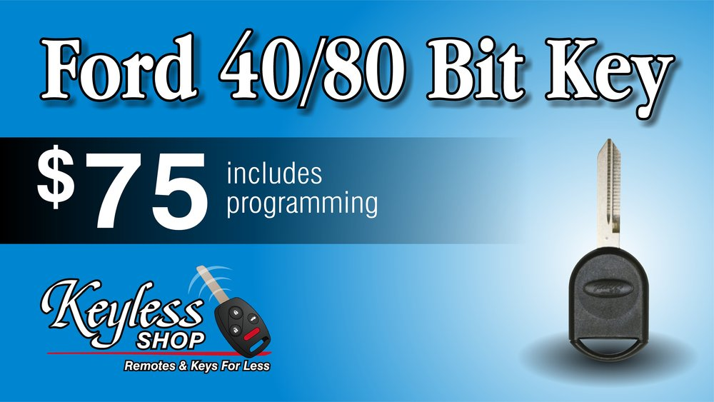 Ford key programming $75