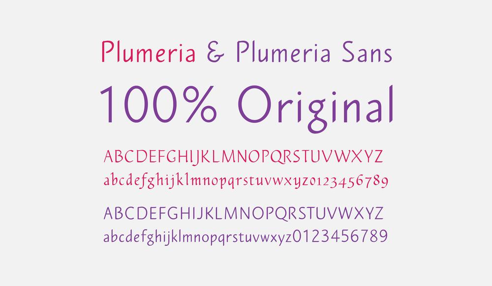 Plumeria & Plumeria Sans Font Design