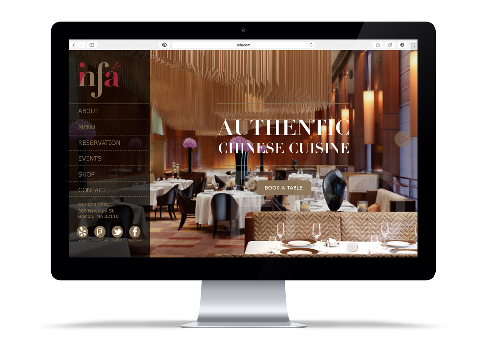 Infa Authentic Chinese Cuisine Branding / Web Design / App Design