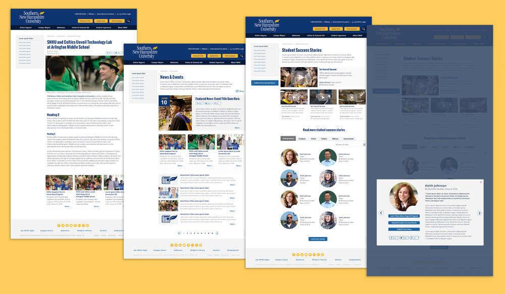 New & Events Page | Student Success Stories Page