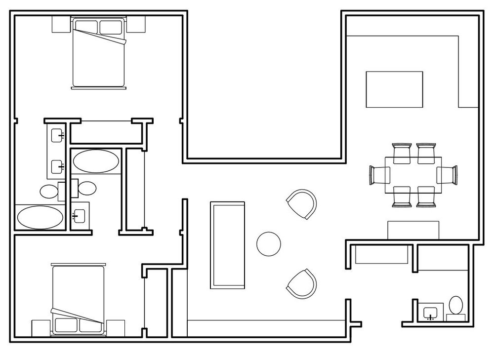 1255 square foot plan