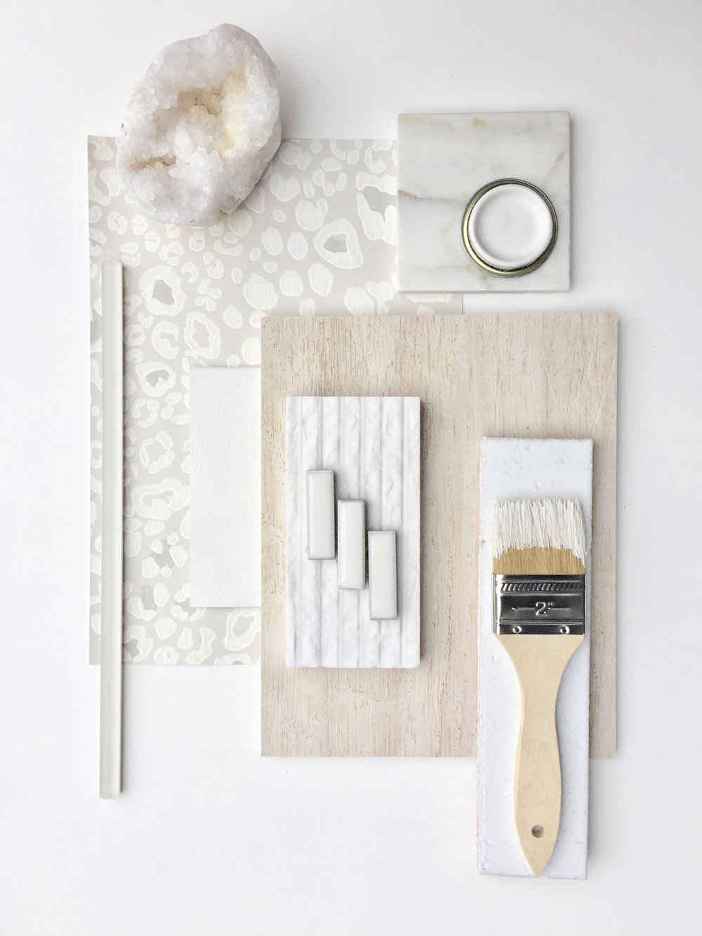 All White, Farrow and Ball, flatlay, color palette, mood board, inspiration, wallpaper, modern,