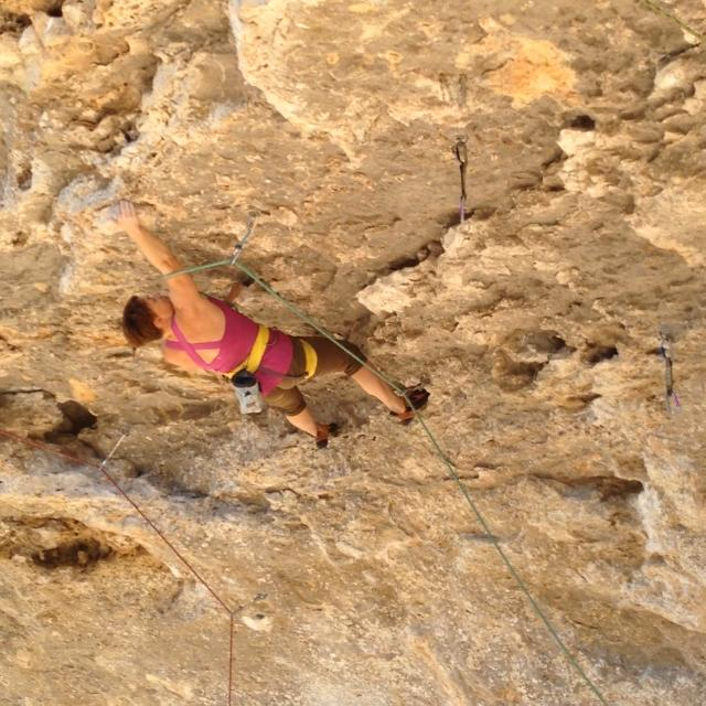 charmagne climbing in central texas