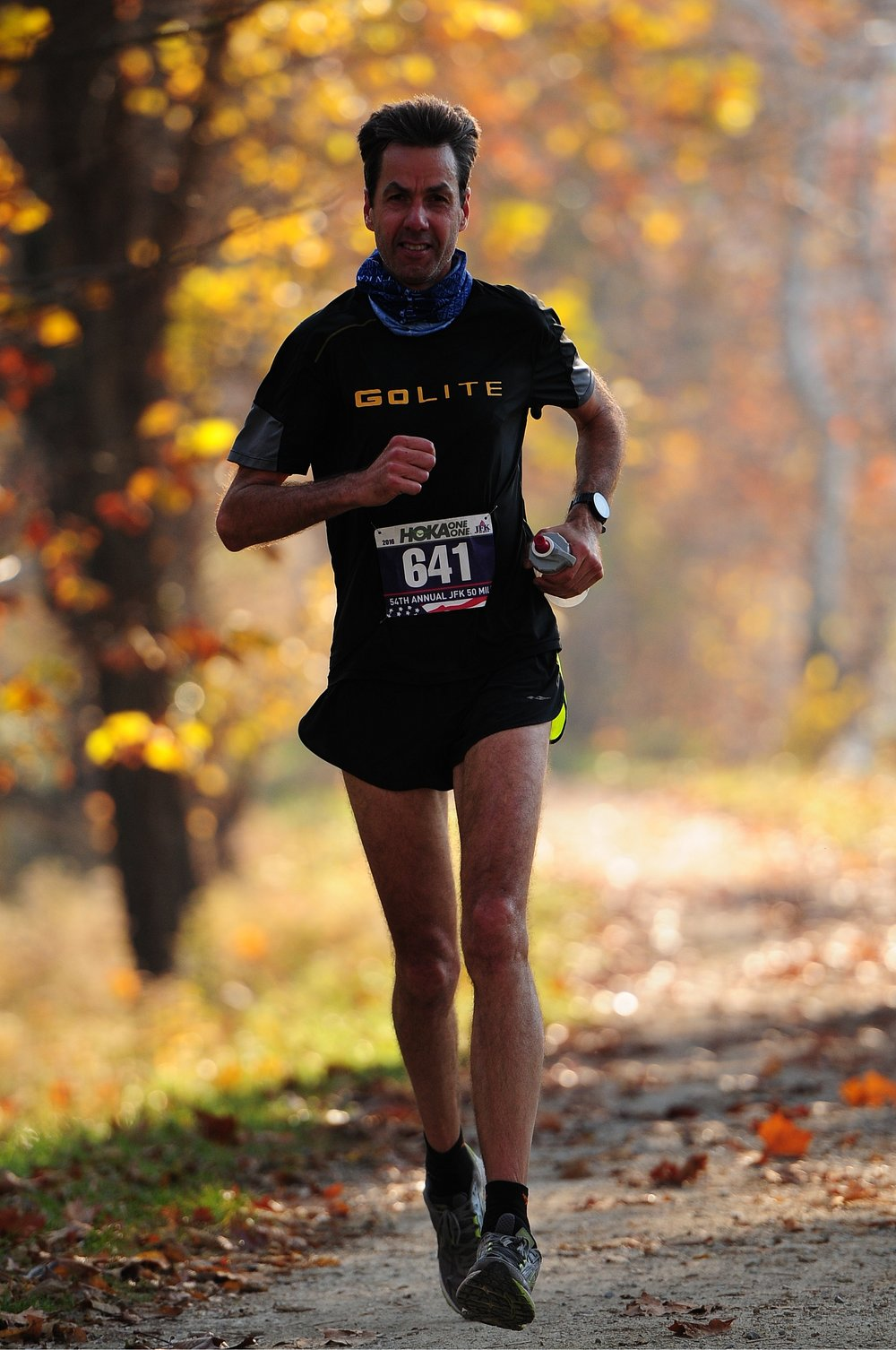 Stefan sporting the flash on his way to a great jfk 50 mile finish