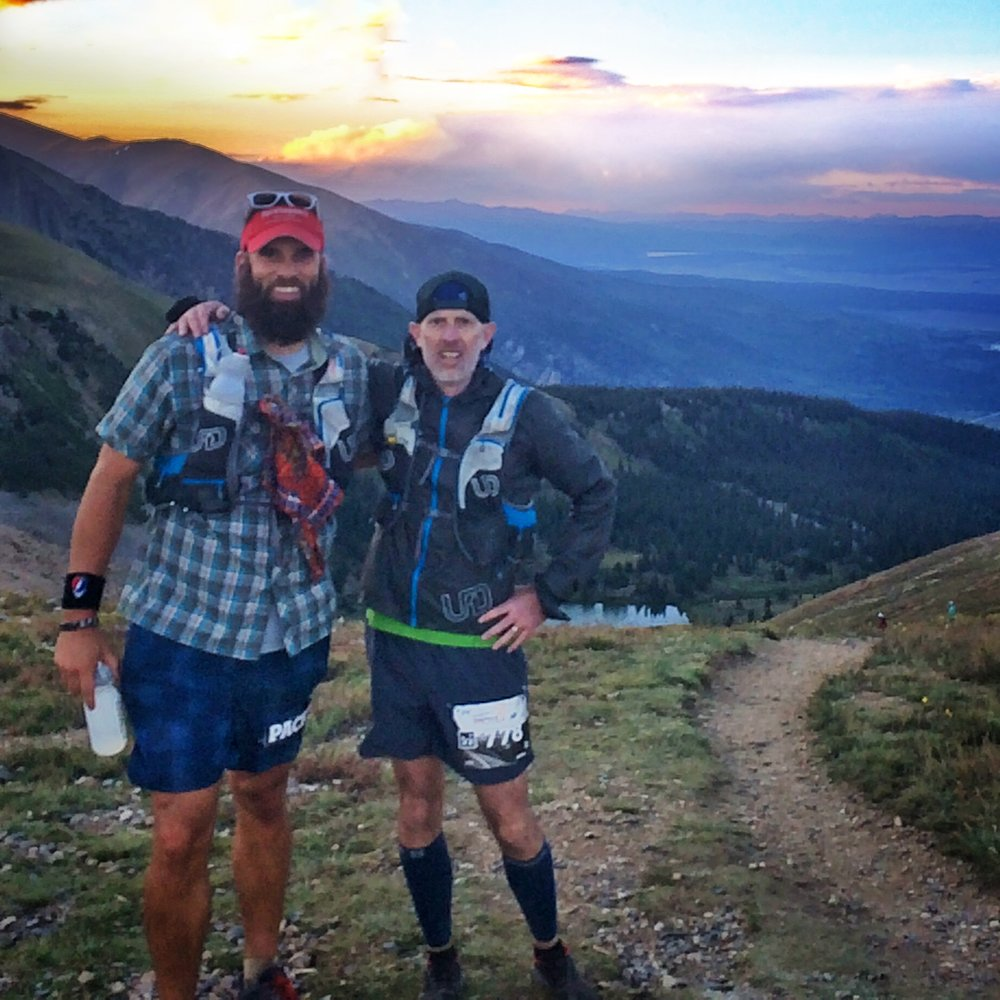 Coach Brian pacing on Hope Pass at the LT100