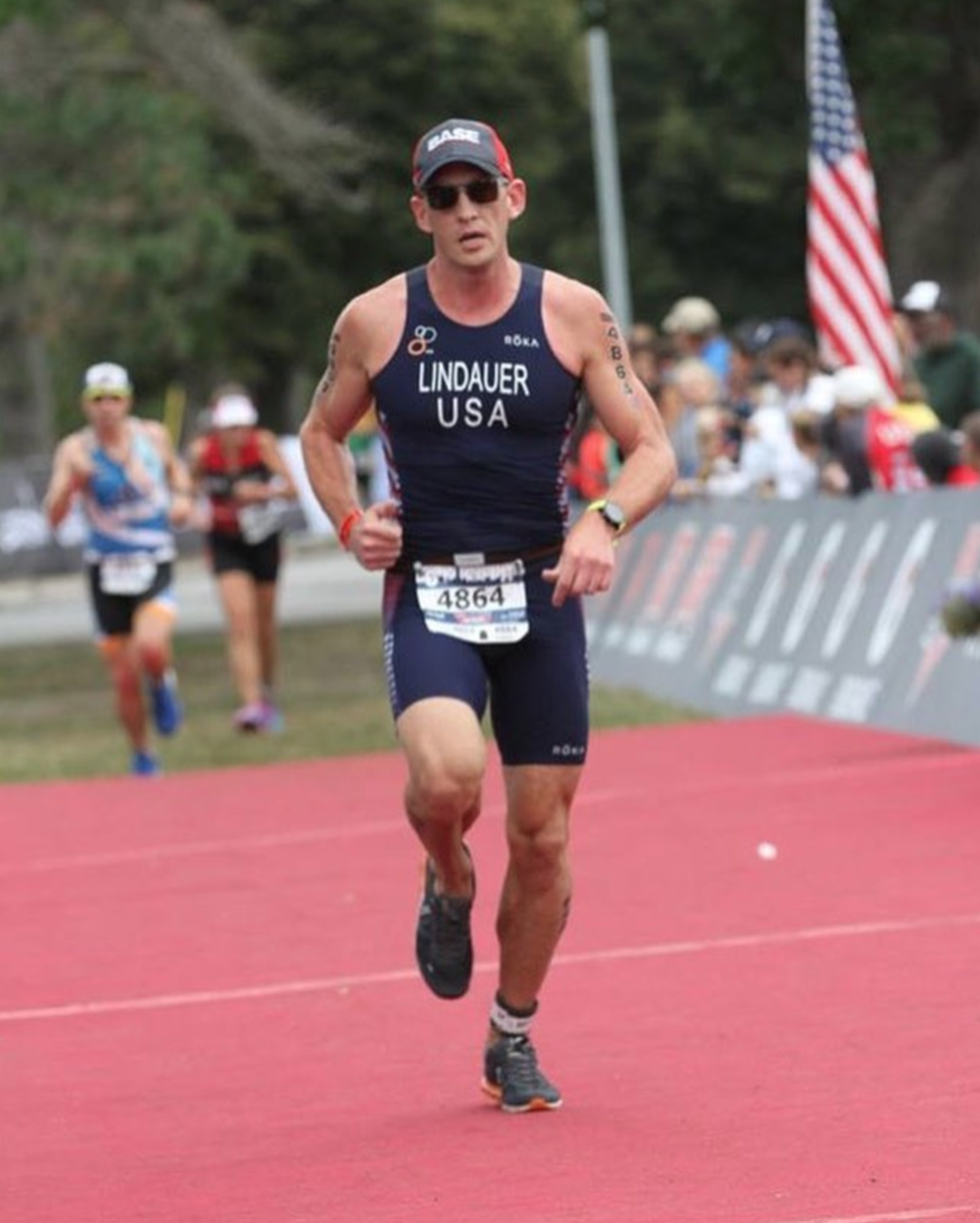 Steve crushing the run course for Team USA
