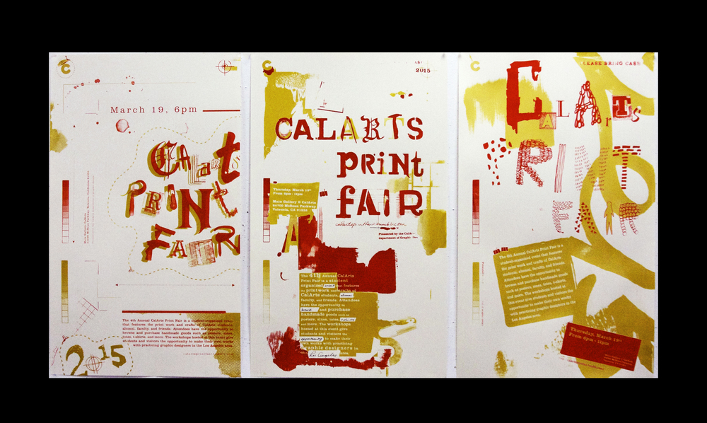 The posters for the event were silk screen in editions of 33, with three separate designs in total there were 99 posters that were silk screened and used as promotional pieces for the event.