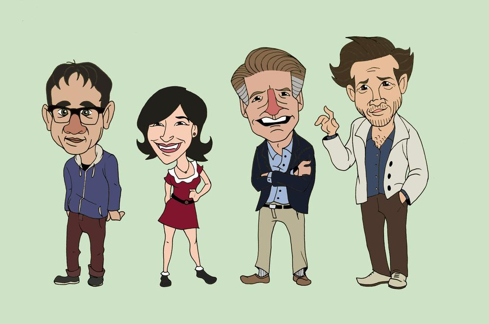 Portlandian Animated Cast Concept - Digital Rendering
