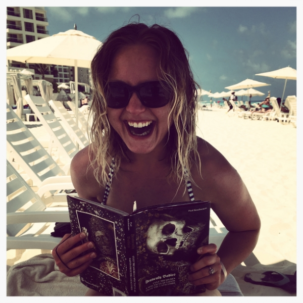 Creepy Reading on the Beach