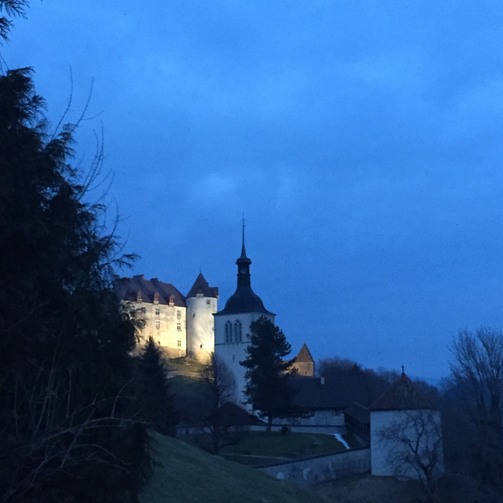 Gruyeres is insanely beautiful at night. They light up the chateau and village, so the views are ridiculous. The village is also very quite and restful, so you will just hear nature and bells throughout the evening.