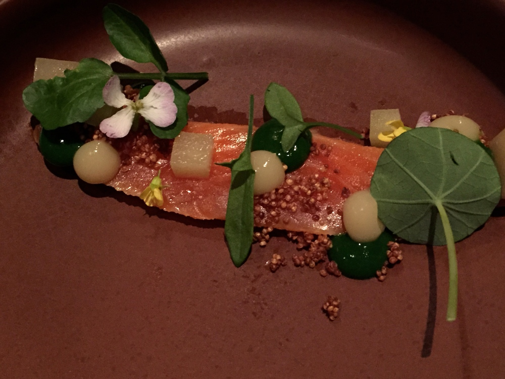 Ora Salmon, Watercress, Pear, Quinoa    Le Phant Blanc 2014 - Elephant Hill