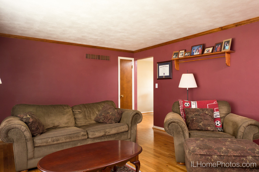 Interior living room photograph for real estate in Morton, IL :: Illinois Home Photography by Michael Gowin, Lincoln, IL