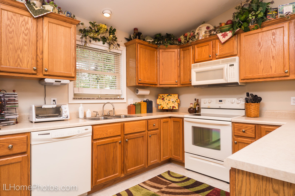 Interior kitchen photograph for real estate in Morton, IL :: Illinois Home Photography by Michael Gowin, Lincoln, IL