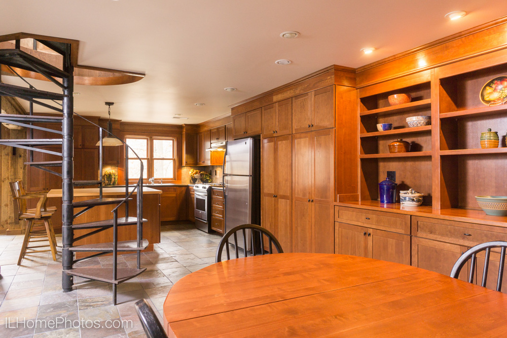 Interior kitchen and dining room photograph for real estate, Cuba, IL :: Illinois Home Photography by Michael Gowin, Lincoln, IL