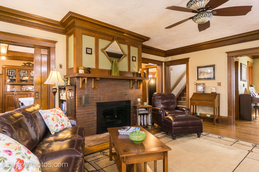 Interior living room photograph for real estate, Washington, IL :: Illinois Home Photography by Michael Gowin, Lincoln, IL