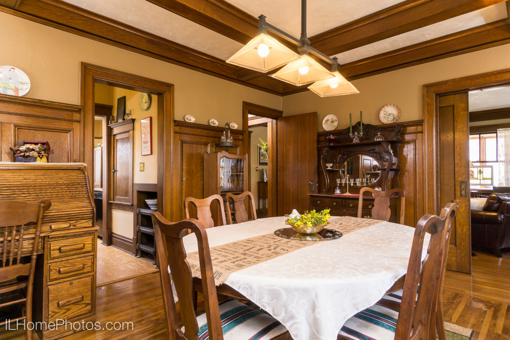 Interior dining room photograph for real estate, Washington, IL :: Illinois Home Photography by Michael Gowin, Lincoln, IL