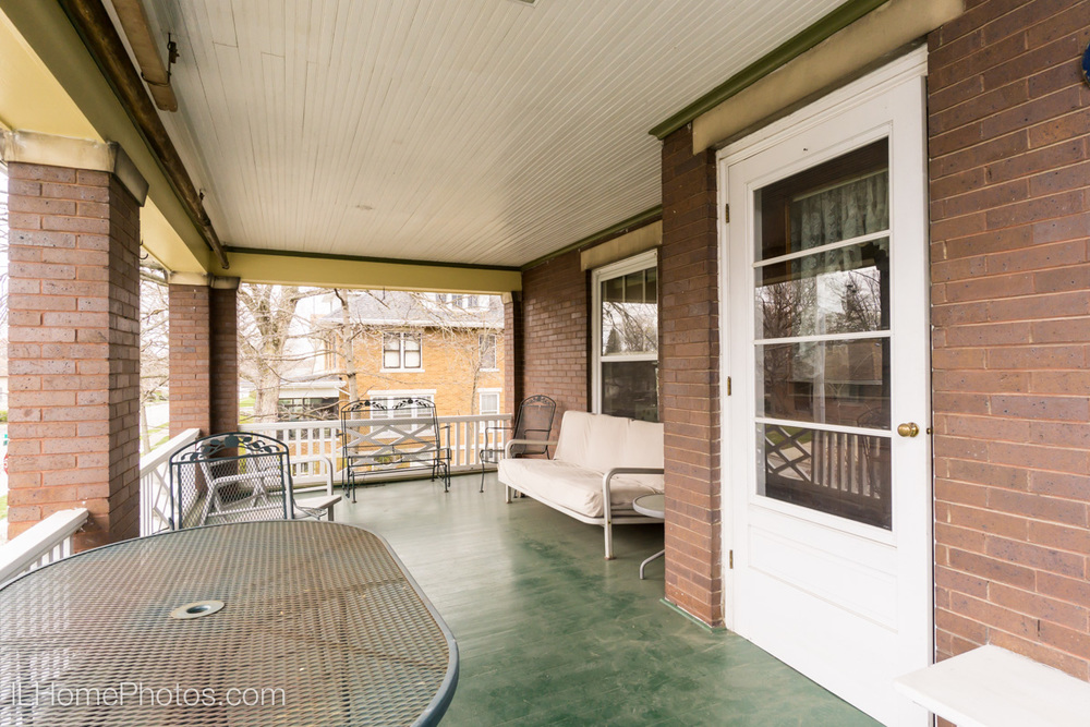 Exterior second floor porch photograph for real estate, Washington, IL :: Illinois Home Photography by Michael Gowin, Lincoln, IL