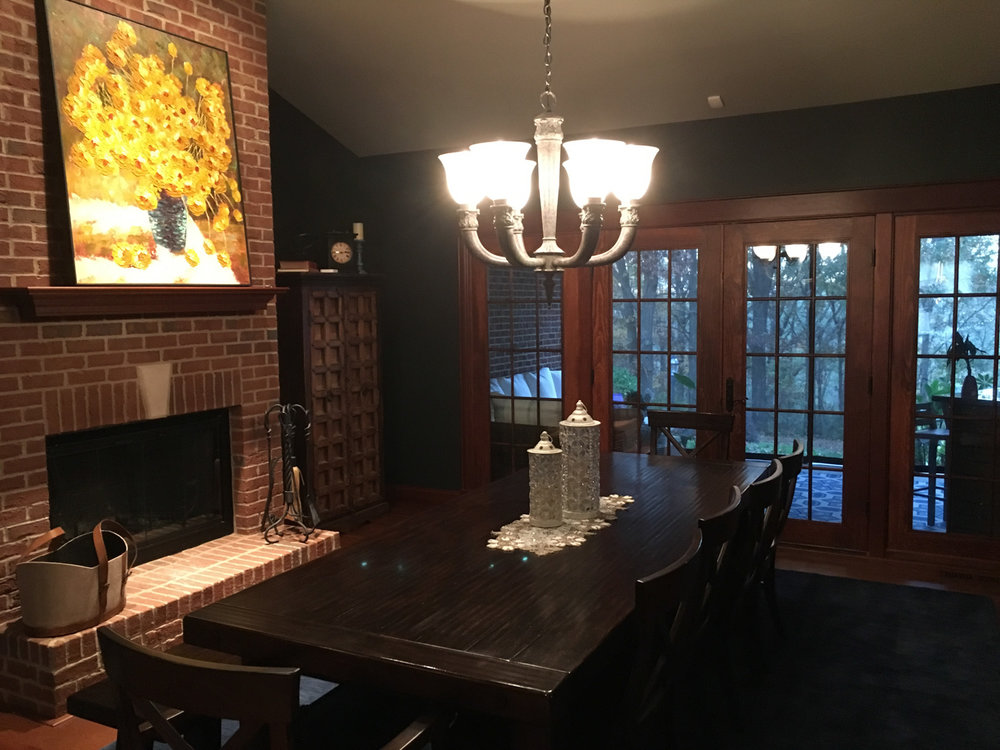 Before - amateur photograph of formal dining room