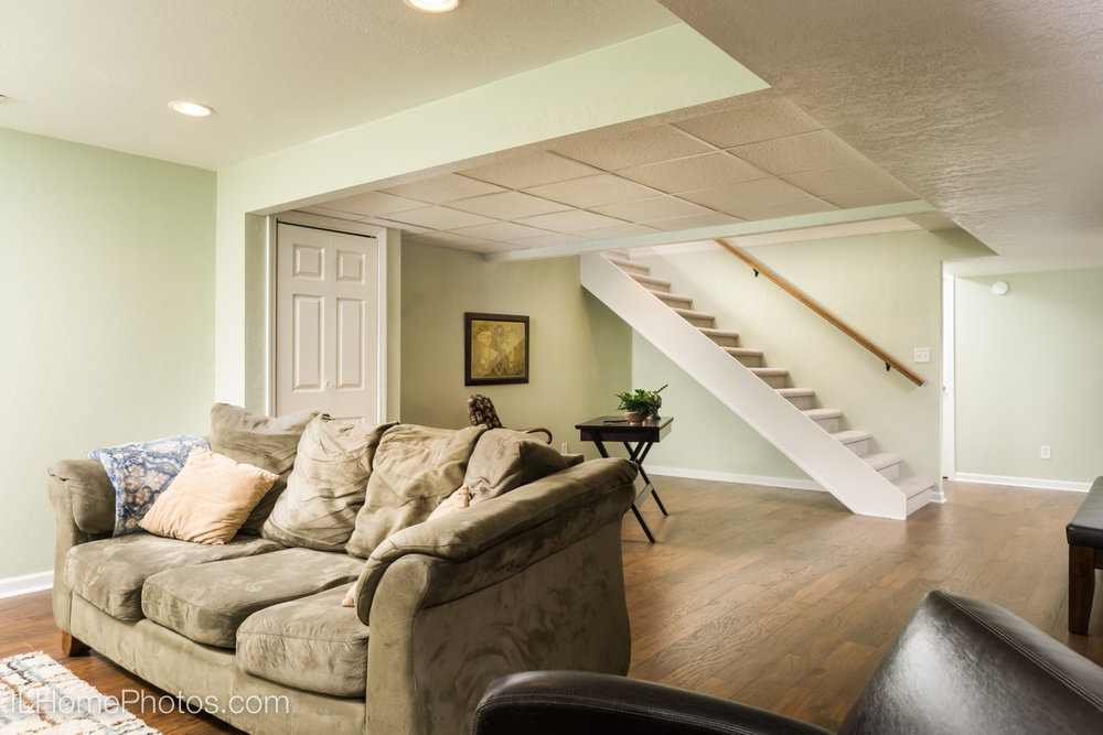 Interior family room photograph for real estate in Morton, IL :: Illinois Home Photography by Michael Gowin, Lincoln, IL