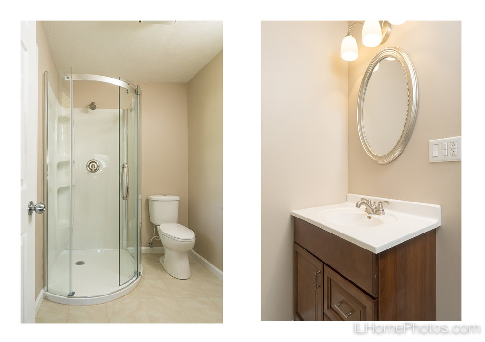 Interior master bathroom photograph for real estate in Springfield :: Illinois Home Photography by Michael Gowin, Lincoln, IL