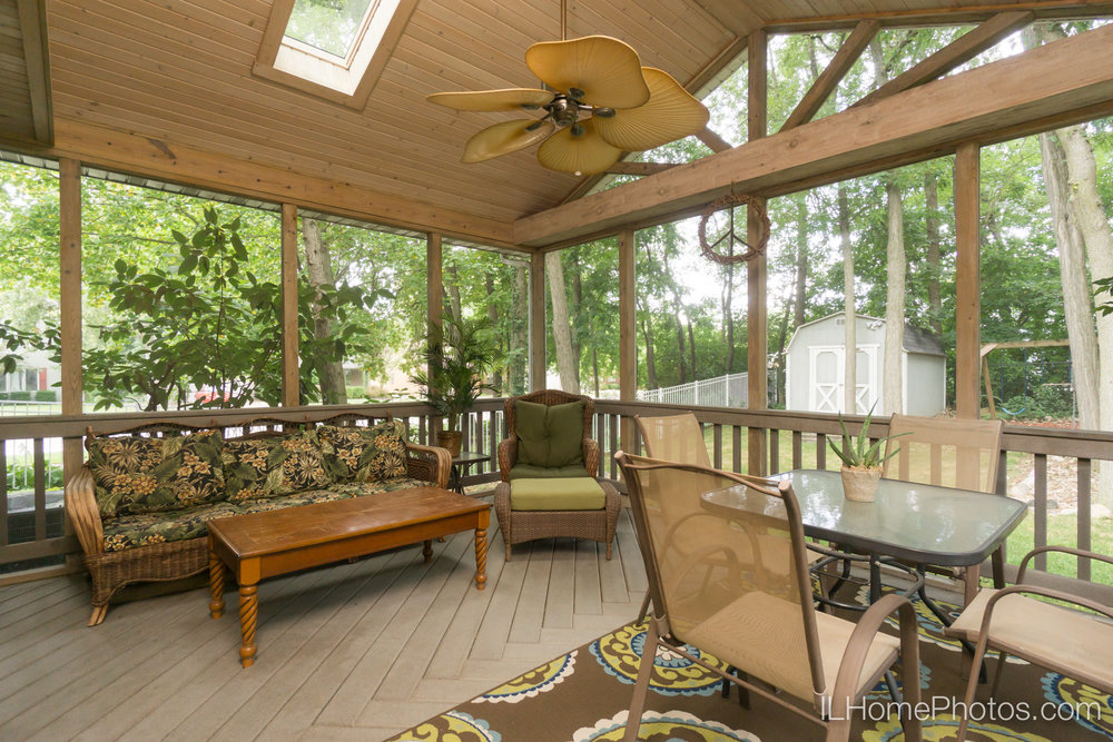 Porch photograph for real estate in Peoria, IL :: Illinois Home Photography by Michael Gowin, Lincoln, IL
