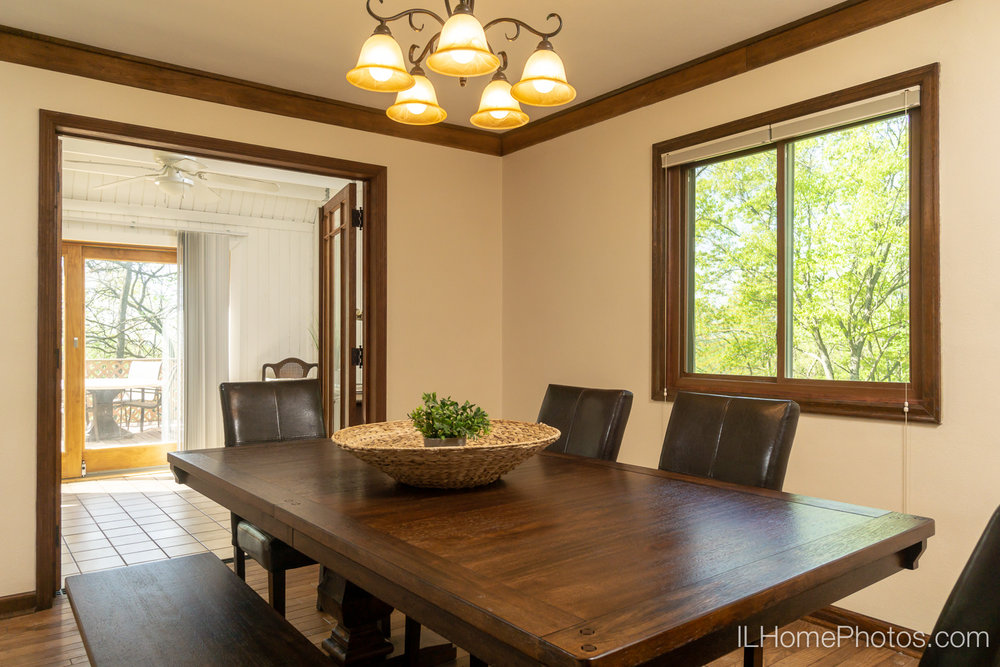 Interior dining room photograph for real estate in Chillicothe, IL :: Illinois Home Photography by Michael Gowin, Lincoln, IL