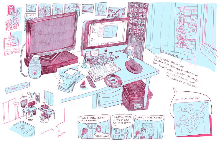 Lauren's desk