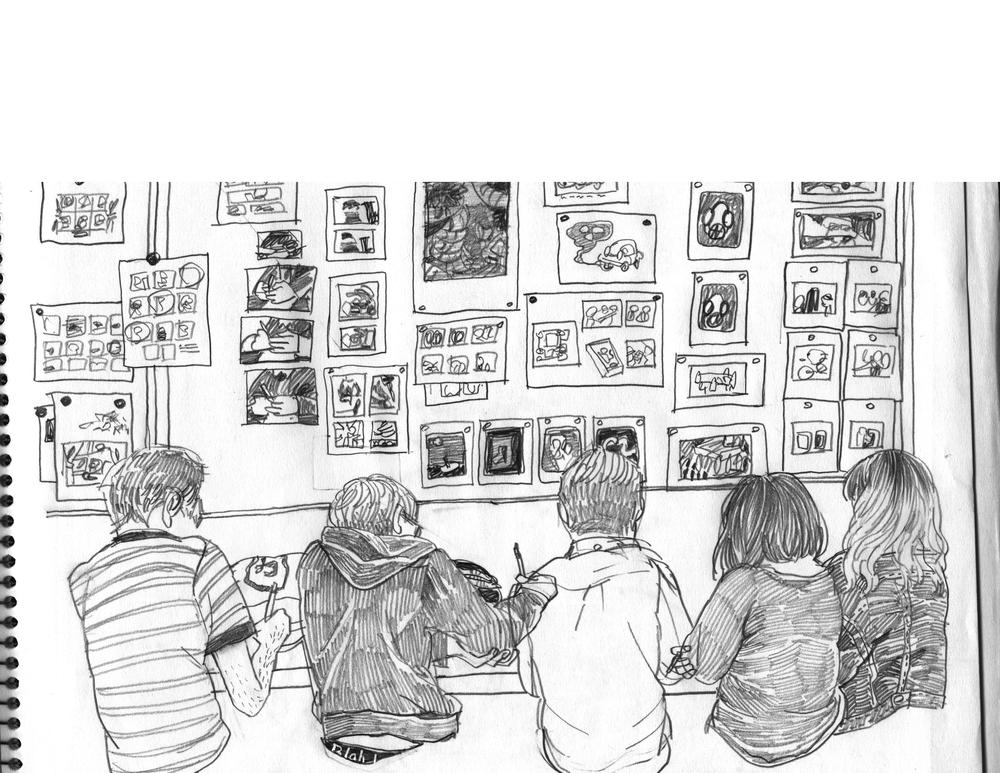 in class doodles