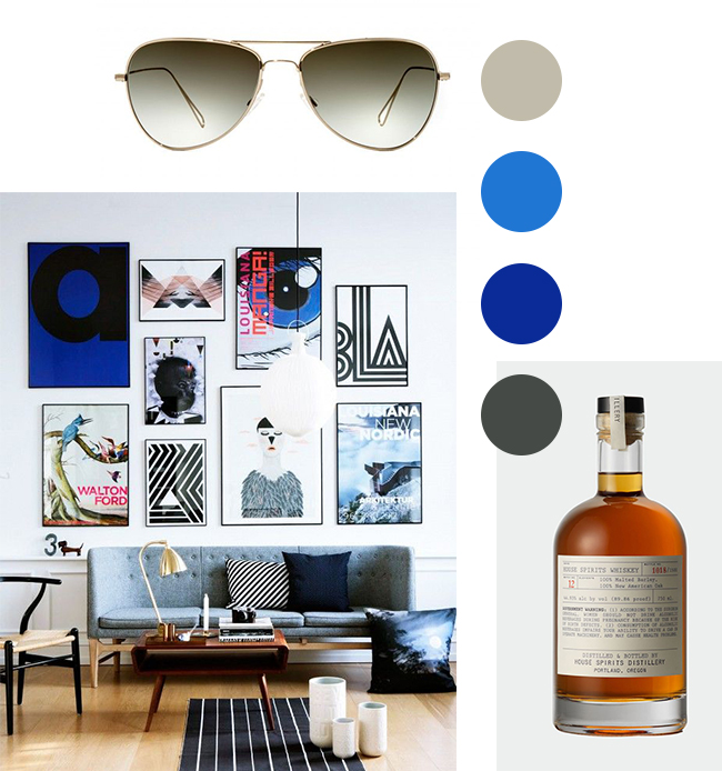 Images provided courtesy of Pinterest.  Aviator sunglasses by Oliver Peoples. Bourbon by House Spirits Distillery in Portland, Oregon.