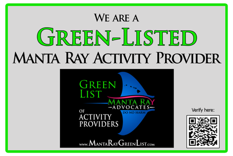 Manta Ray Green List activity provider Liquid Hawaii