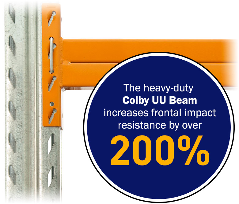 The Colby UU Beam increases frontal impact resistance by over 200%