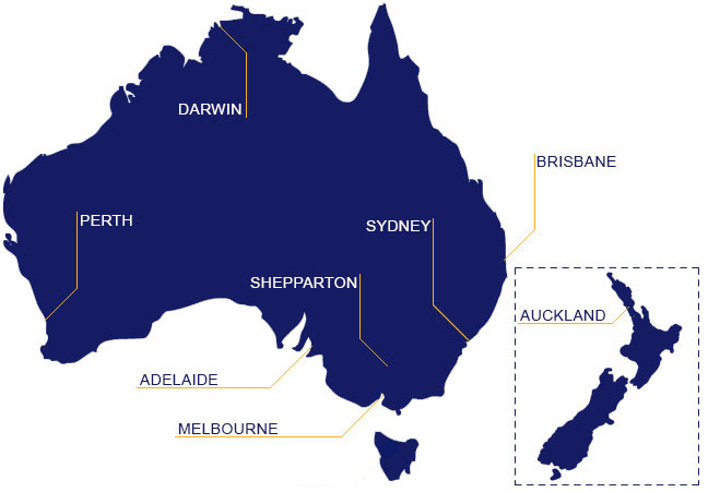 Colby's National Network across Australia and New Zealand