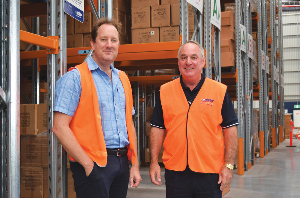 Malmar Group Director, Dave Turner (left), with Alex Heska, Total Storage Solutions