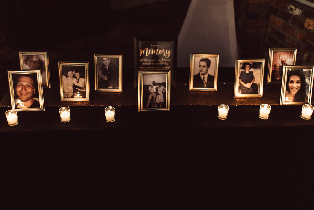 Memory table for those that have passed. | Wedding Details