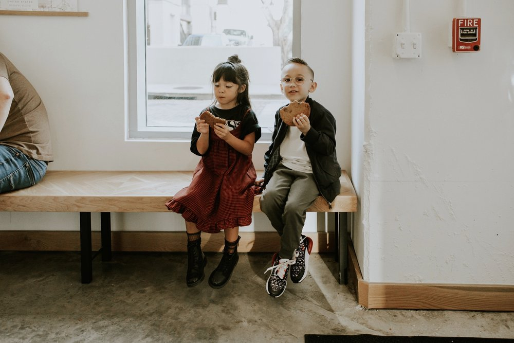 Lucas & Penny - Ever see five year old latte art throw-down judges? You're welcome ;-)