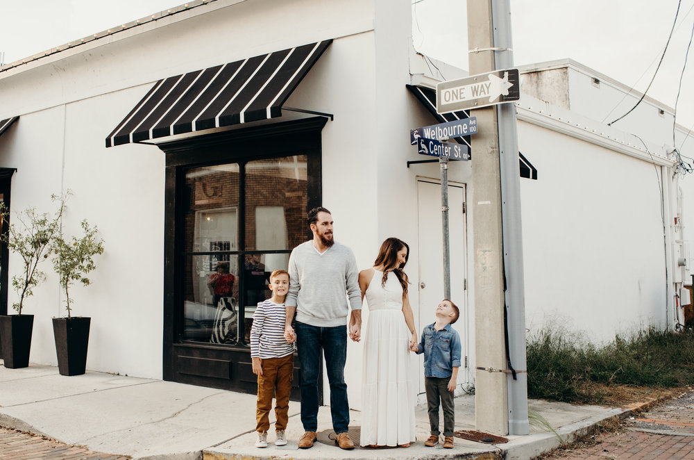 The Rosa Family - A Winter Park Family Lifestyle Session
