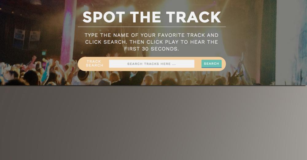 Spot the Track | Uses the Spotify API
