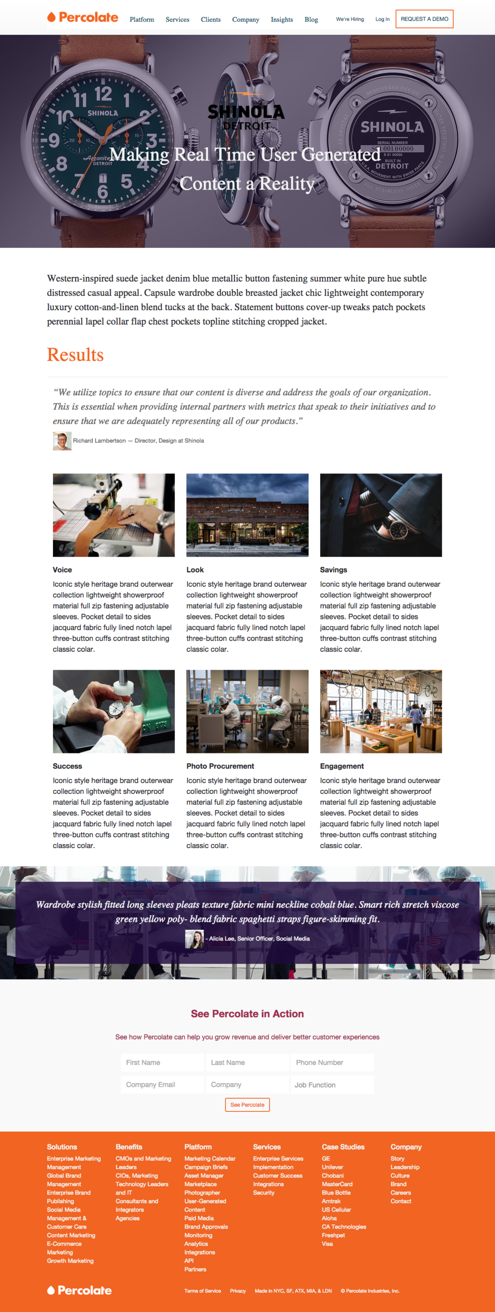Web Layout | Responsive (click through for live site)