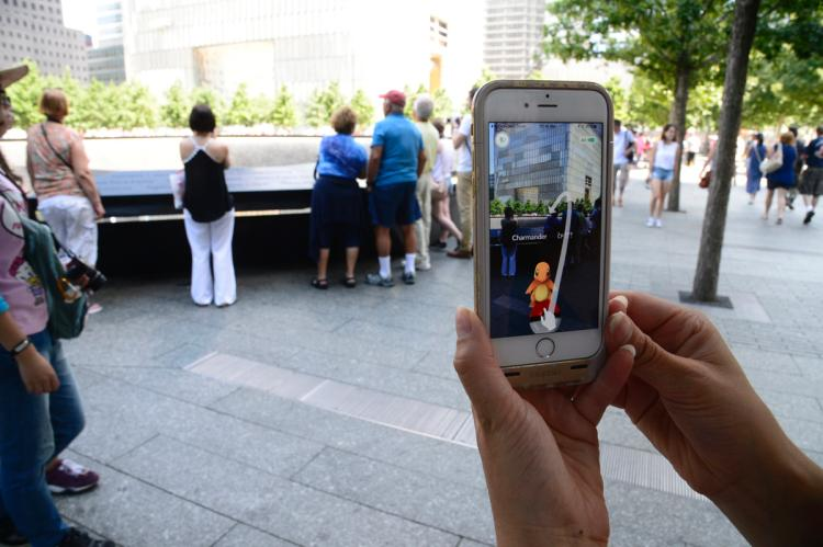 Pokemon Go | PokéStop near the North Pool at the 9/11 Memorial (Source: New York Daily News)