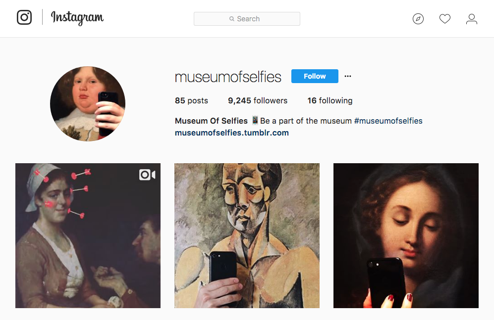 Instagram account of the  Museum of Selfies