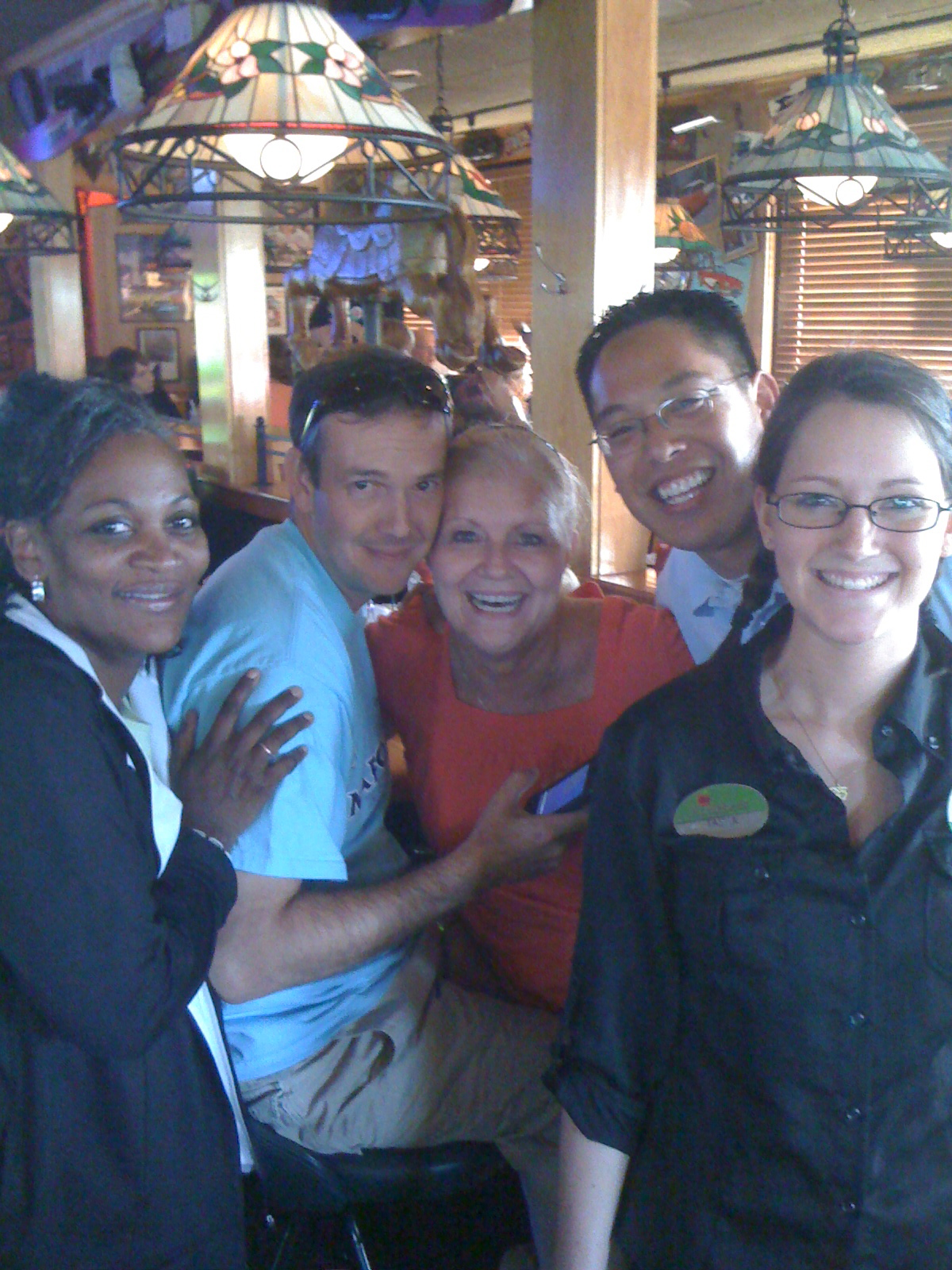 Terrylyn, Captain My Captain, Lynn (dang dootie), myself and our hostess