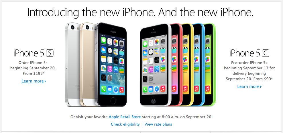iPhone 5s and 5c