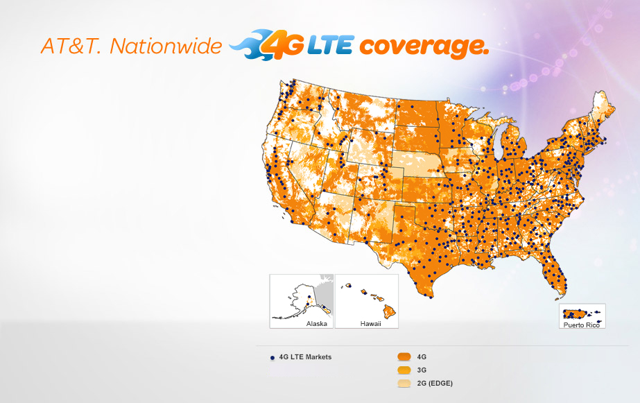 AT&T LTE Map