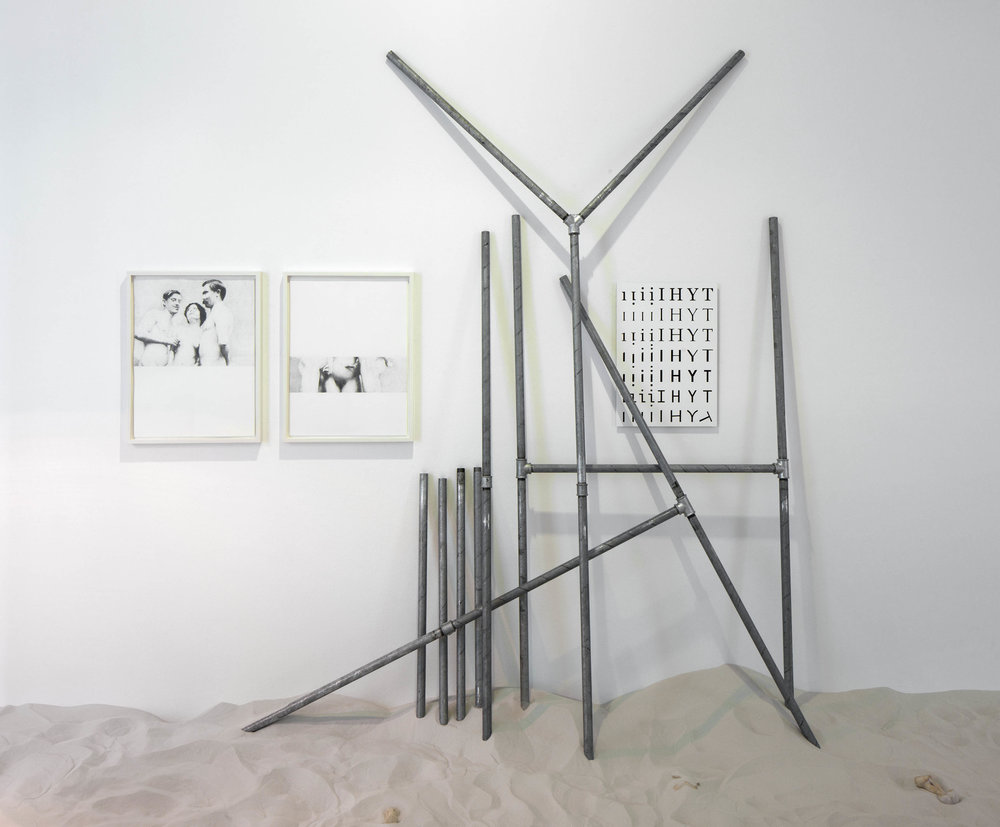 Verbindungen , 2014/2015  22 part work, pencil on paper, silkscreen on aluminium, galvanized steel  (Pencil on paper):  61 × 47 cm   69 × 53 × 4 cm (framed)  (Silkcreen print): 58 × 42 cm   (Galvanized steel): 100 cm