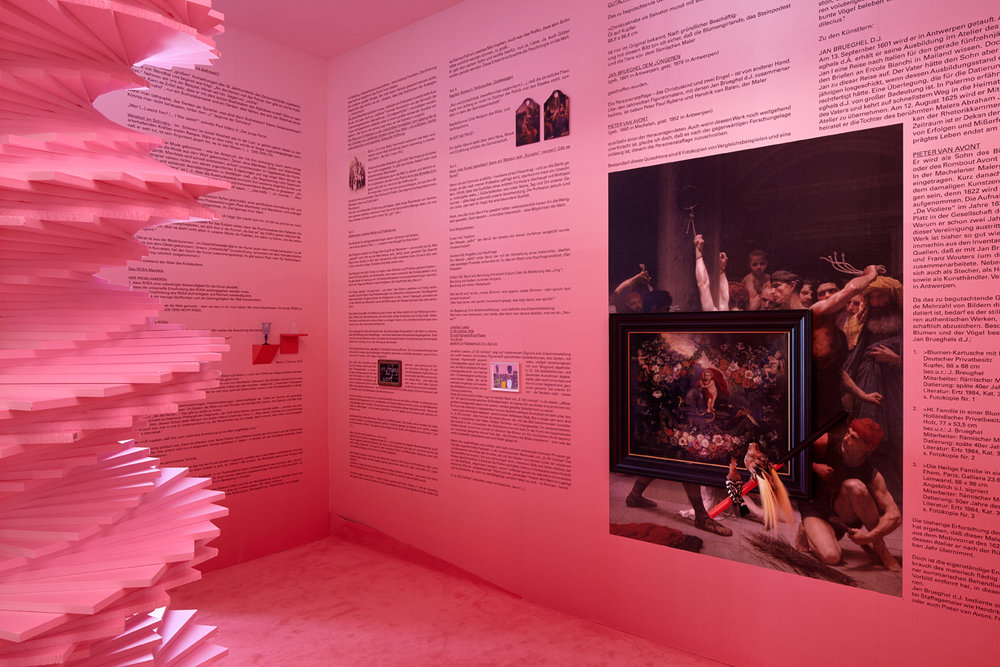 Was nennt sich Kunst? Was heißt uns wahrsein?   Installation View  Galerie Thomas Schulte, Berlin, 2014