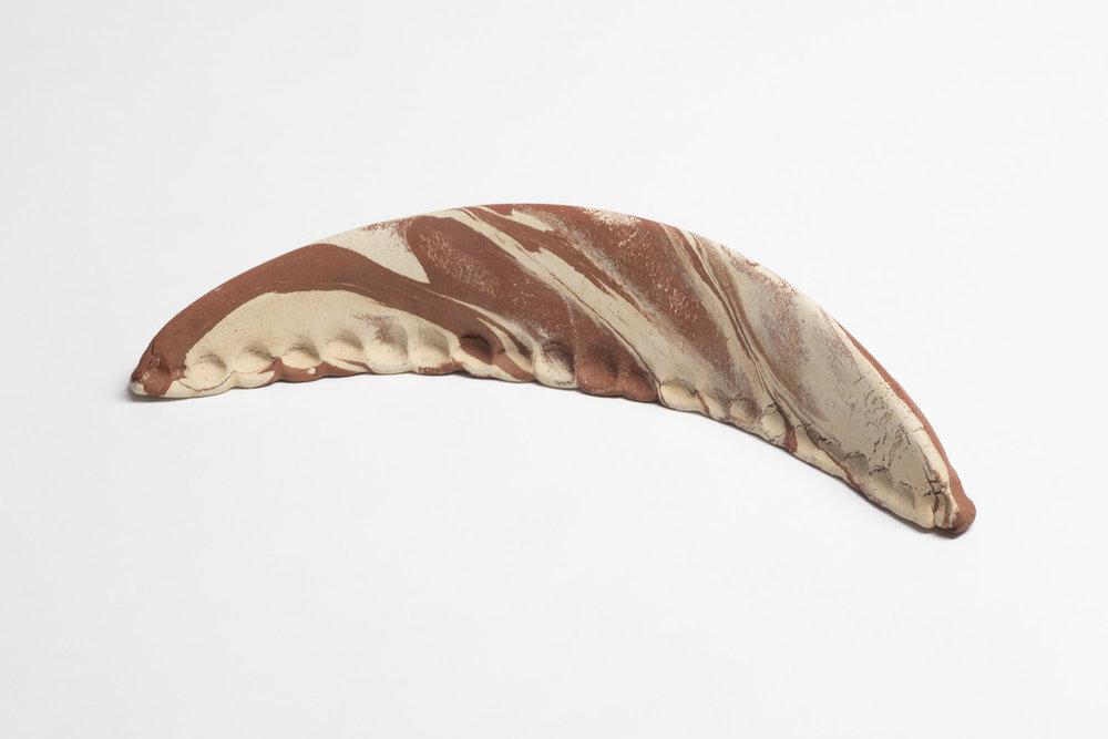 Gebäck , 2014  clay  7 × 36 × 15 cm